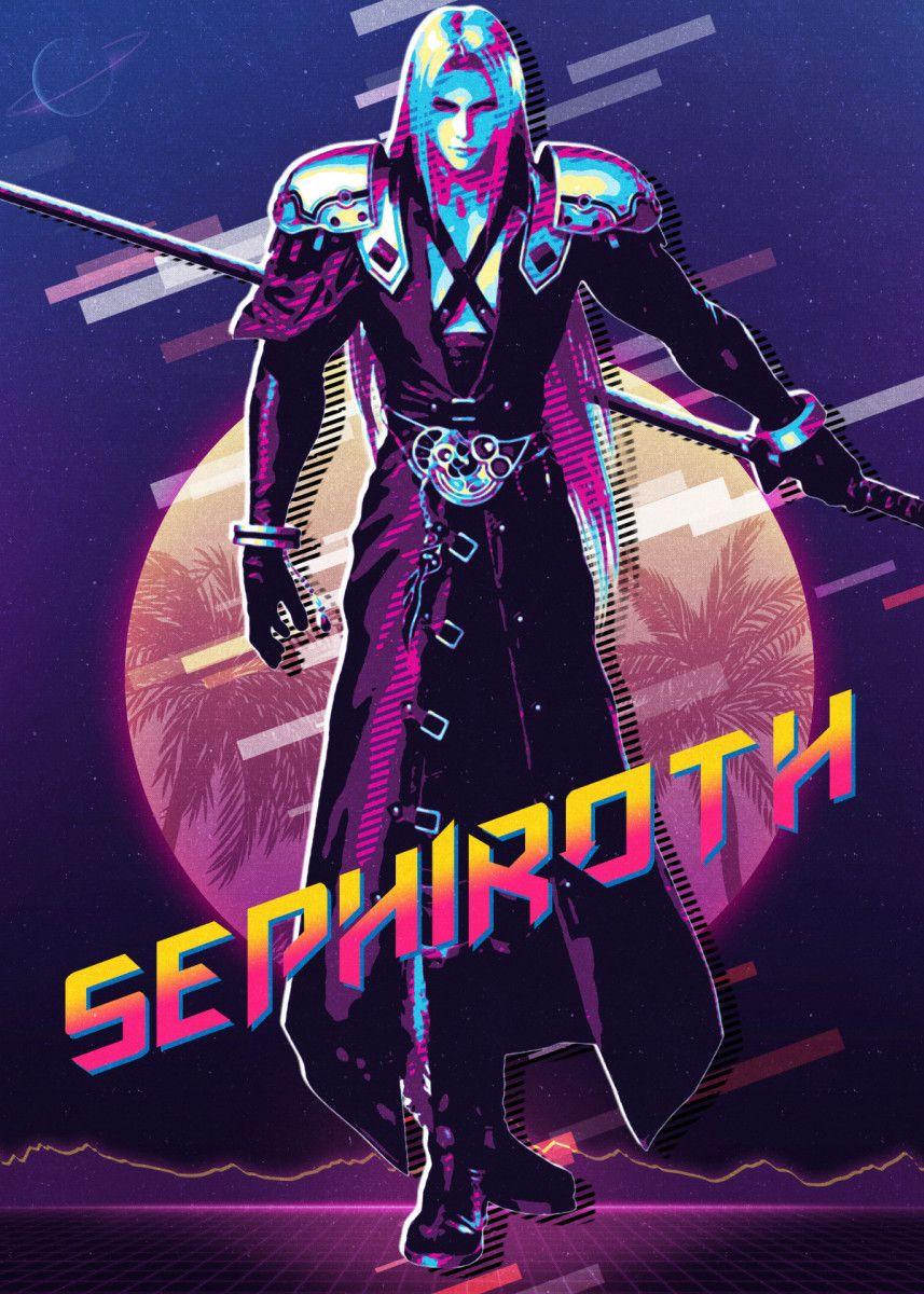 Sephiroth Final Fantasy 7 Poster Art Print By Secondsell Studio Displate In 2021 Final Fantasy Sephiroth Final Fantasy Cloud Final Fantasy