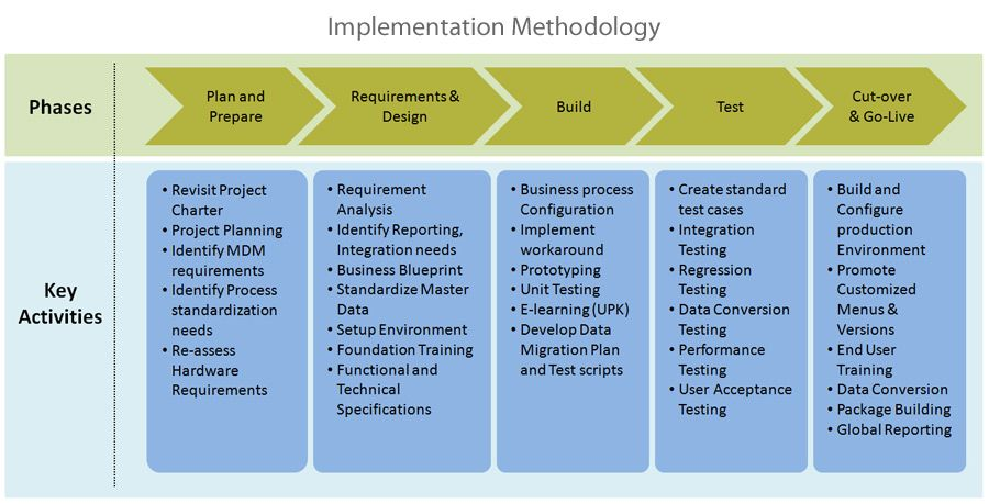 Erp implementation steps pictures to pin on pinterest for Implementation methodology template
