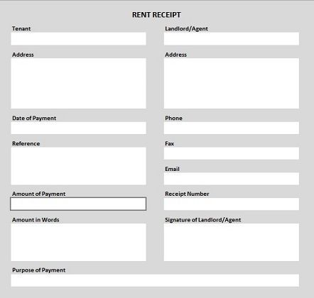 Format For Rent Receipt Awesome Rent Receipt Form  Template  Pinterest  Renting Receipt Template .
