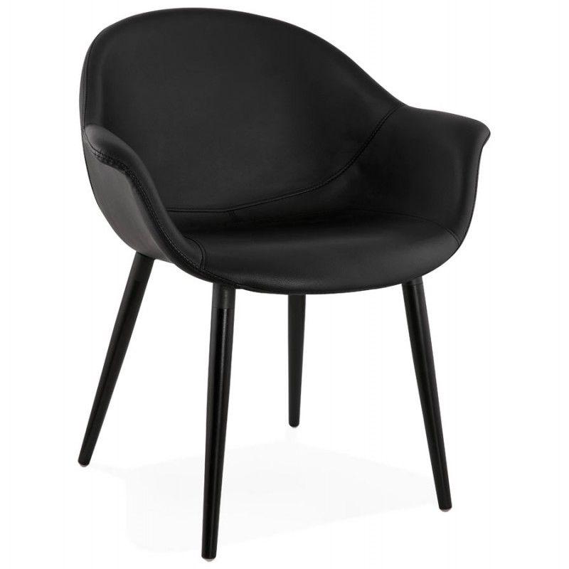Confortable et actuel le fauteuil chaise design et moderne orly en polyurethane