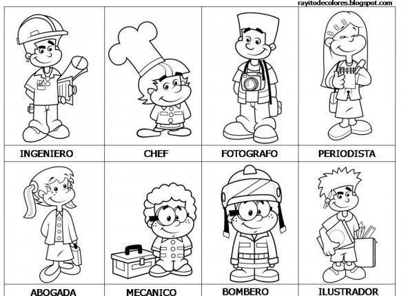 Imagenes De Feliz Dia Del Trabajador Bonitos Oficios Y Profeciones Profesiones Para Ninos Oficios Y Profesiones