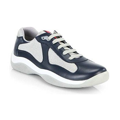 6f9827497c549 Prada Leather America's Cup Mesh Navy Trainers Be the first to ...