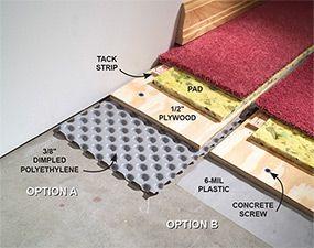 How To Carpet A Basement Floor Basement Flooring