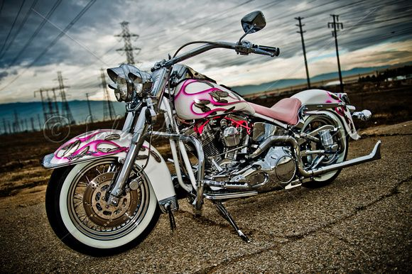 Pink Harley Davidson: This Is Kinda Neat... Not ALL Pink (which Is Too Much Pink