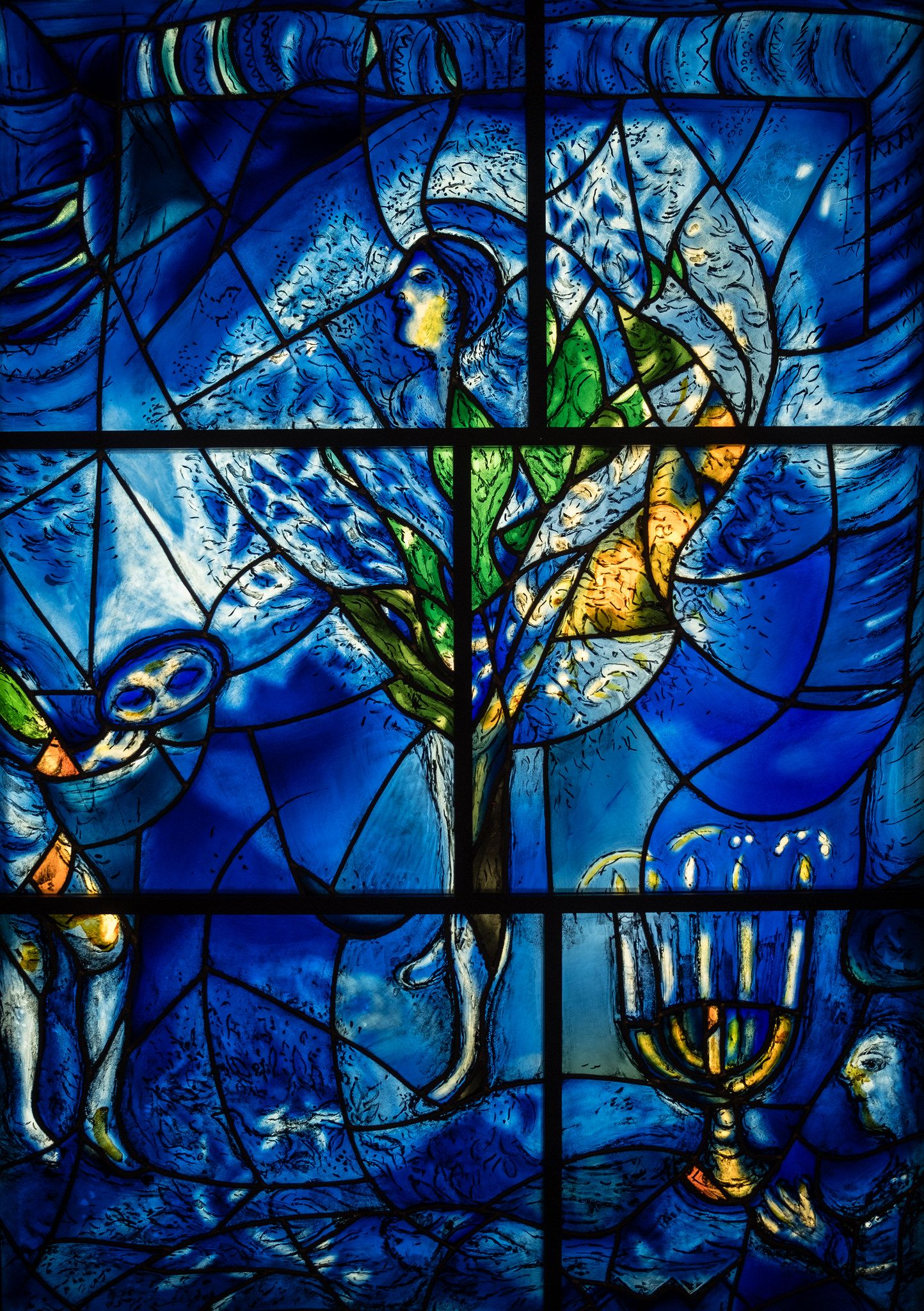 Marc Chagall America Windows 1977 Detail 1 25 18 #