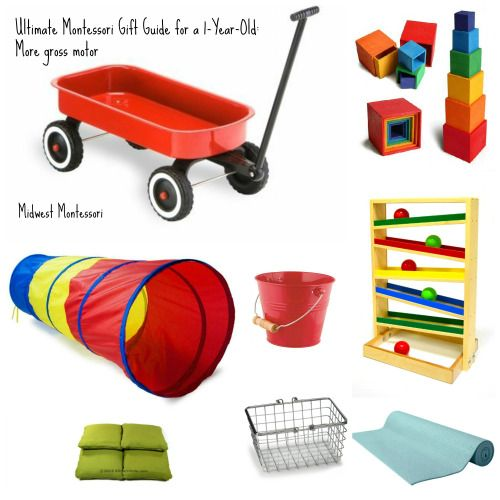 Ultimate montessori gift guide for a 1 year old more for Gross motor activities for 1 year olds