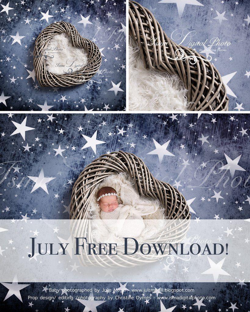 July Free Download Wooden Heart With Star Background Beautiful Digital Backdrop Ne Digital Backdrops Digital Photography Backdrops Newborn Photography Props