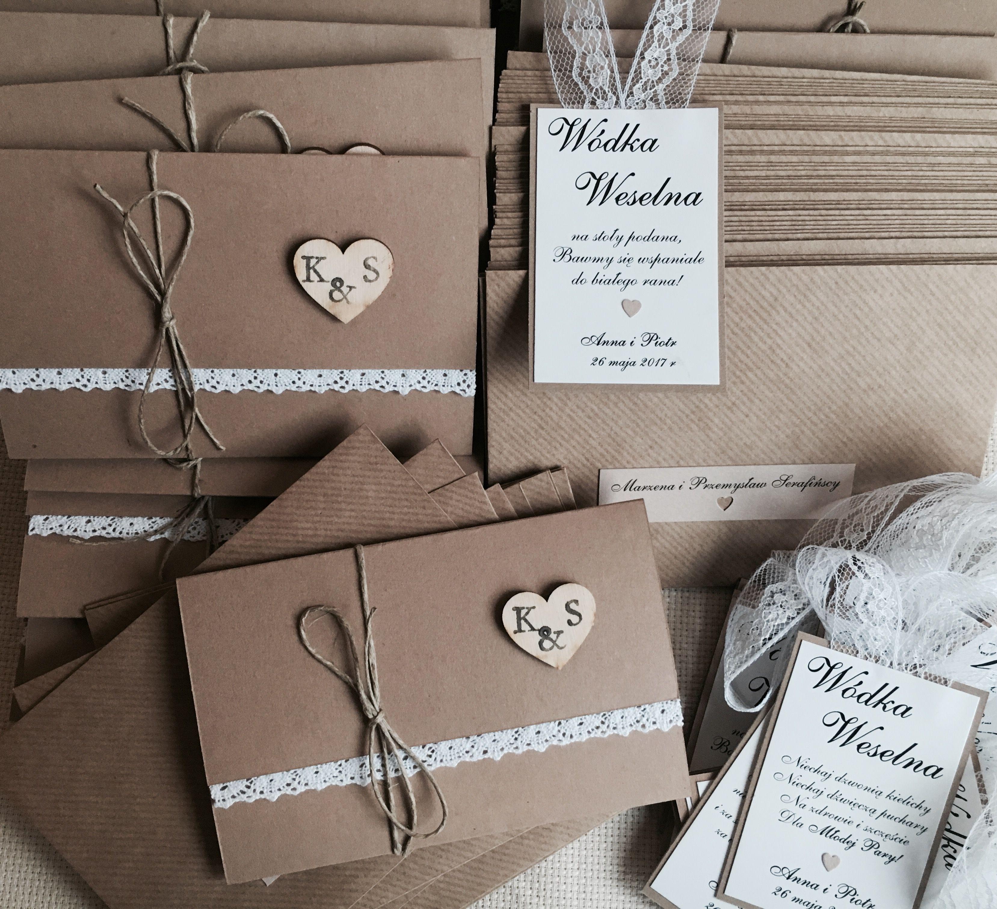Zaproszenia Rustykalne Z Koronka Wedding Invitations Wedding Accessories Wedding Accesories