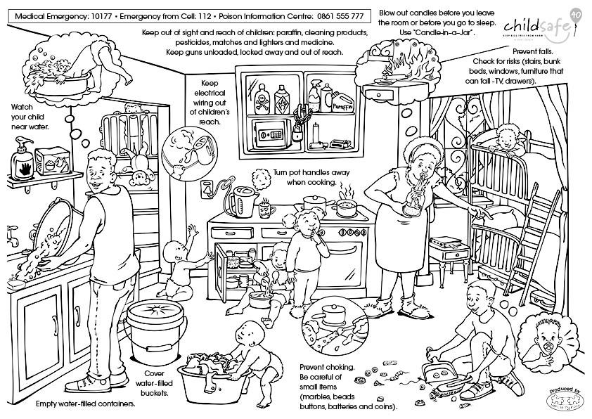 Child Safe Colouring Page Kids Safe Story Activities Classroom Activities
