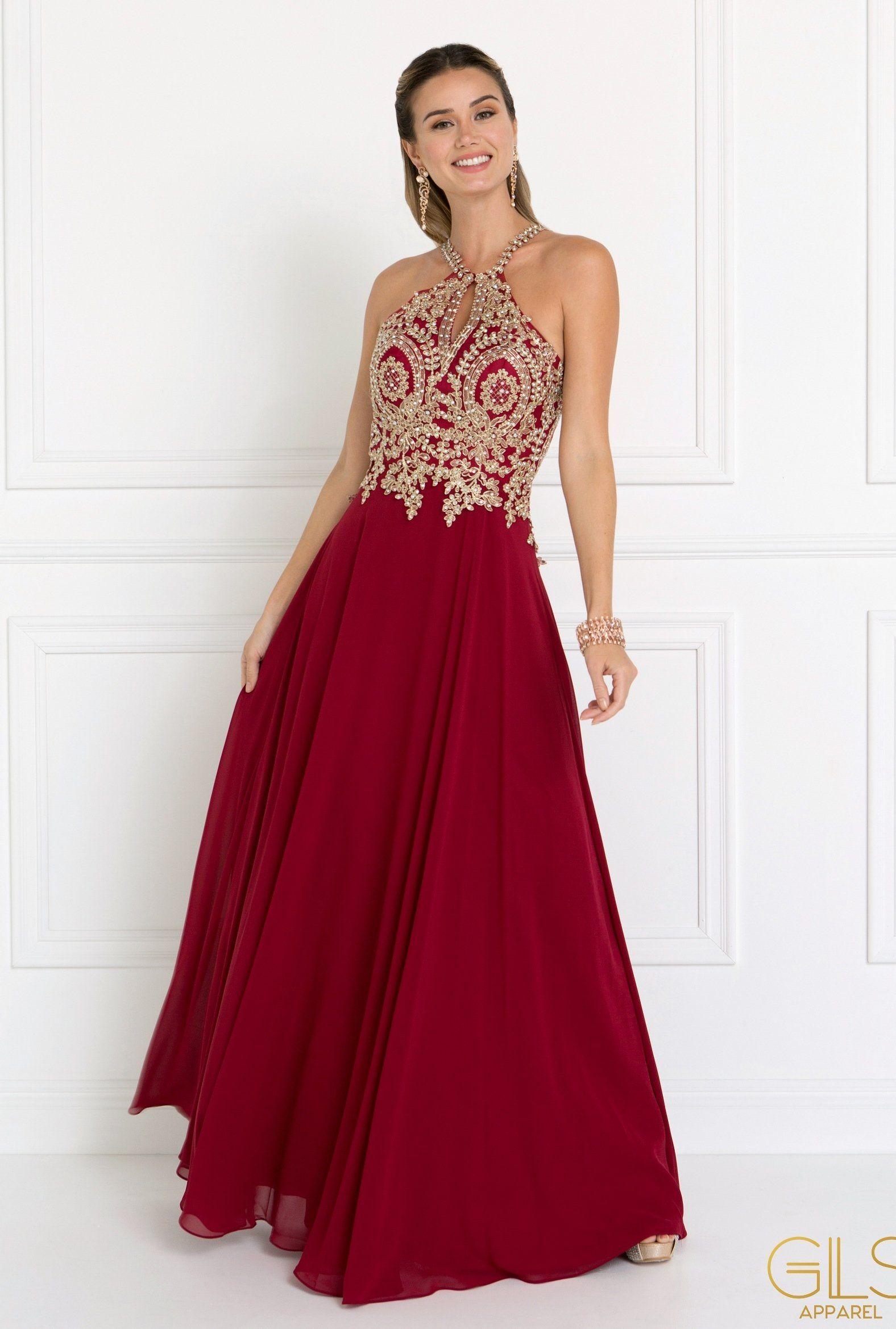 Blush Long Open Back Chiffon Dress by Elizabeth K GL1526 | Chiffon ...