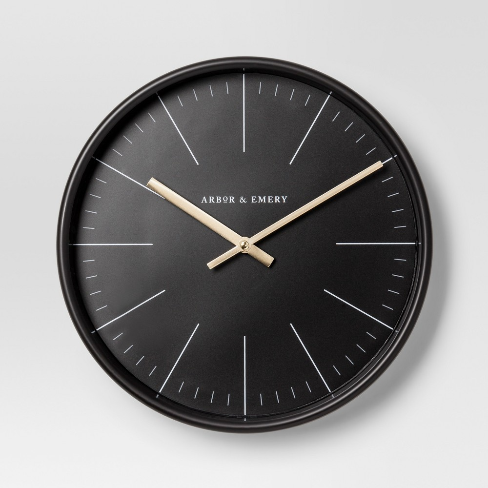 Decorative Wall Clock Black Brass Project 62 With Images Clock Wall Decor Wall Clock Clock