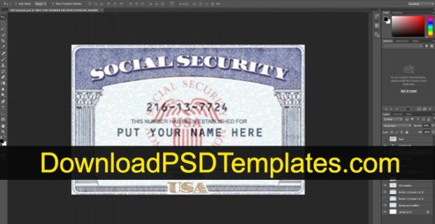 social security card template photoshop font  social