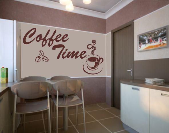 Coffee time vinilo decorativo para cocinas vinilos for Vinilos decorativos economicos