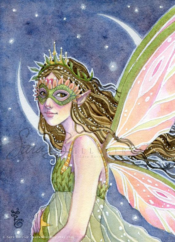 Fairy Art Print - Start Blessing Mini Small Print - ACEO - Motherhood Moon Crest