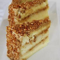 Mocha Nougatine Cake Layers Of Soft Chiffon Rum Custard Coffee Buttercream And