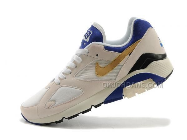 Lío recurso renovable Seguid así  Nike Air Max 180 QS Mens Running Shoes 626960 175 White Gold, Jordan Shoes  - Michael Jordan Shoes - Air Jo… | Nike air max mens, Running shoes for  men, Nike air max