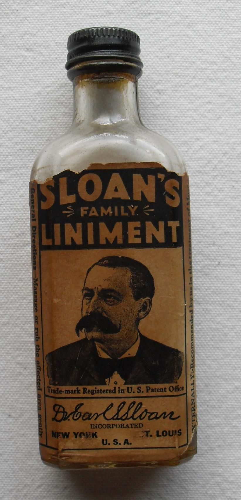 This is a picture of liniment. It represents Of how Crooks used this to help his back.