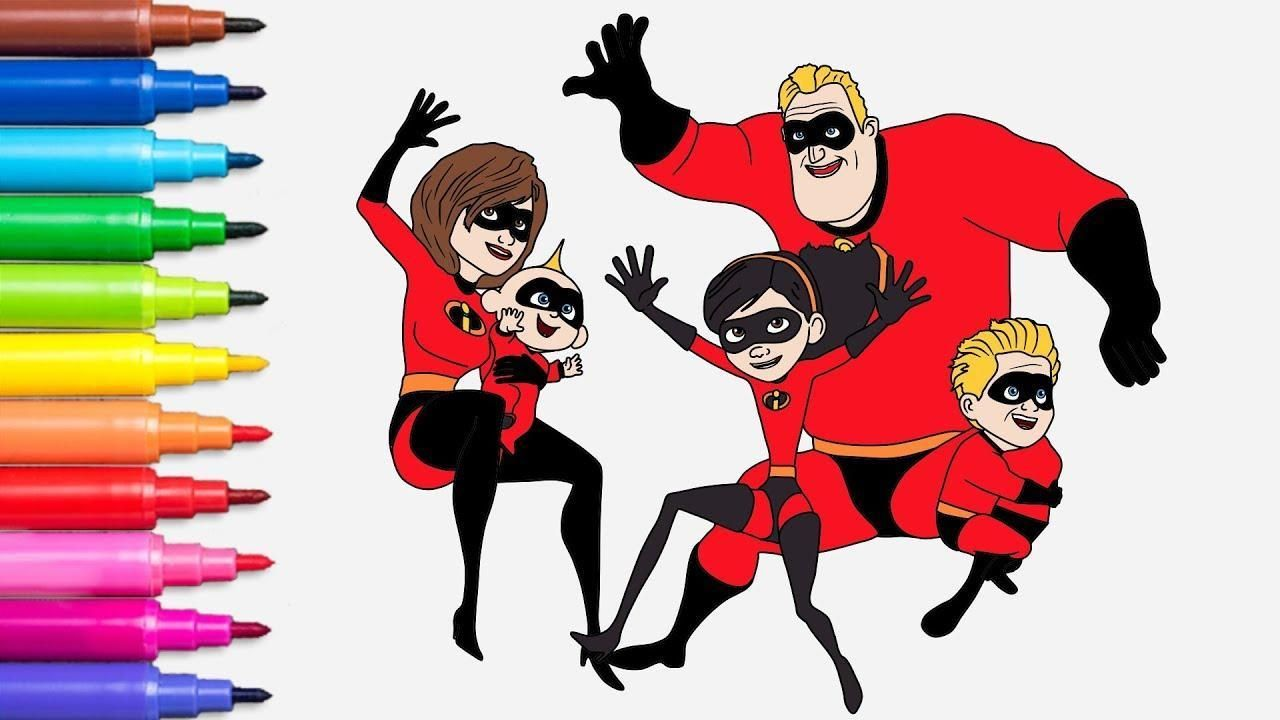 16 Coloring Pages The Incredibles 2 di 2020