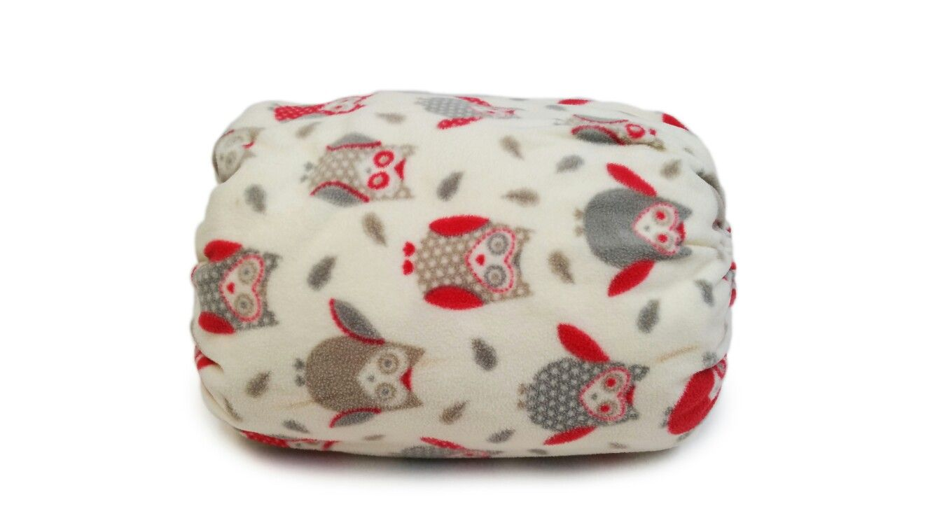 """Red and white owls"" Mamma-pillo, the ultimate wearable (over arm) breastfeeding and bottle feeding nursing support pillow!  Order via our webstore www.mammapillo.com.au"