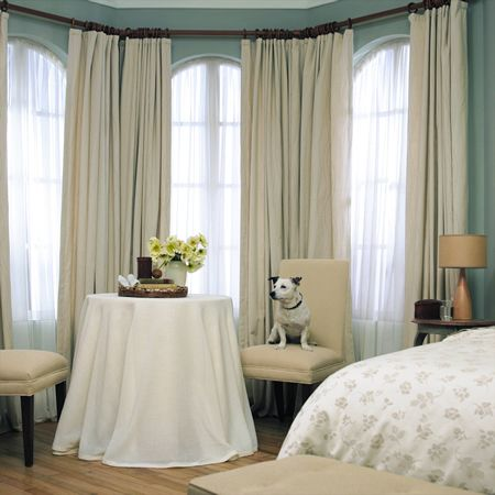 Neutral drapery for the bedroom