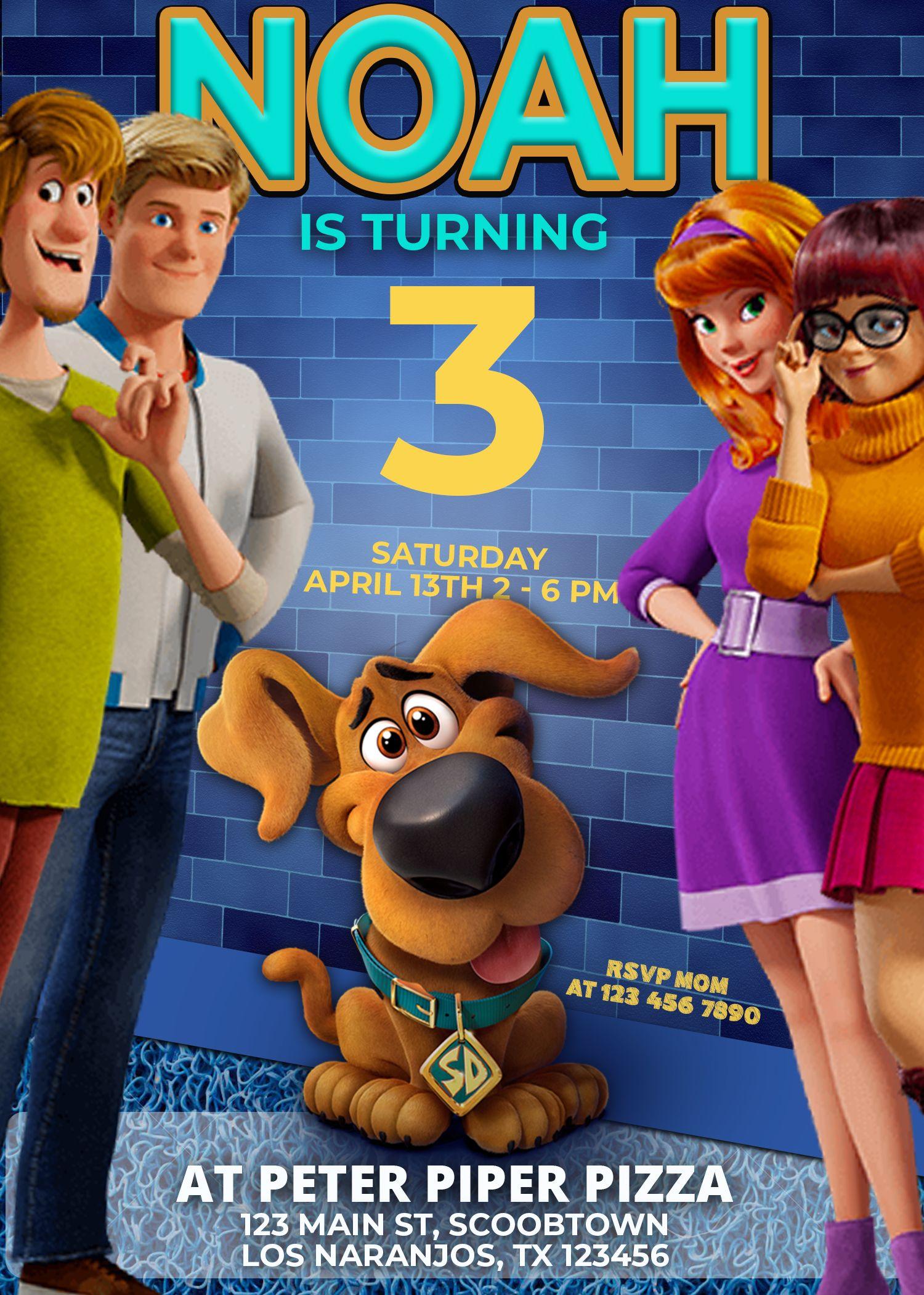 Scooby Doo Birthday Invitation Oscarsitosroom Scooby Doo Scooby Doo Movie Scooby Doo Birthday Party