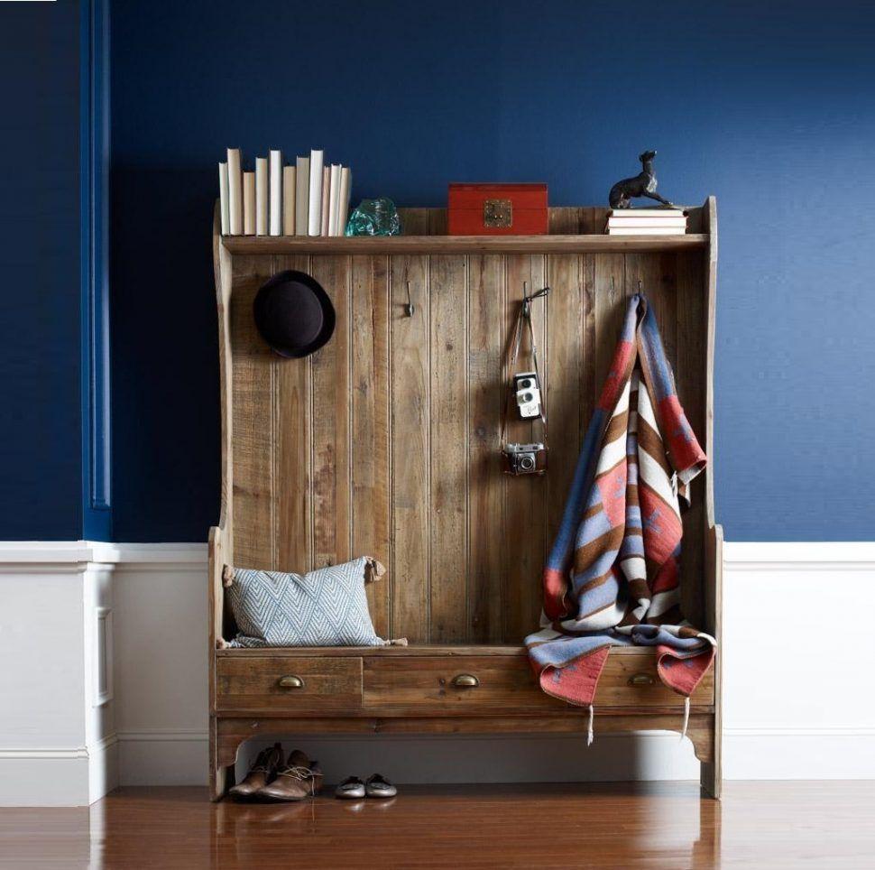 mudroom shallow hall tree front door coat and shoe storage. Black Bedroom Furniture Sets. Home Design Ideas