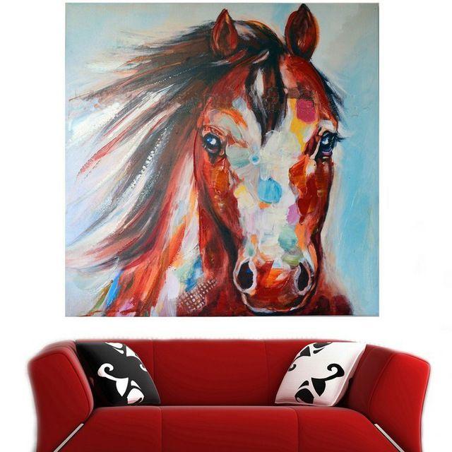Cheval moderne peinture l 39 huile paint pinterest - Pinterest peinture a l huile ...