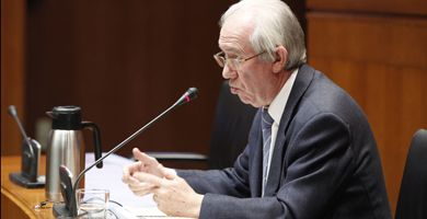 Francisco Bono, consejero de Economía del Gobierno de Aragón