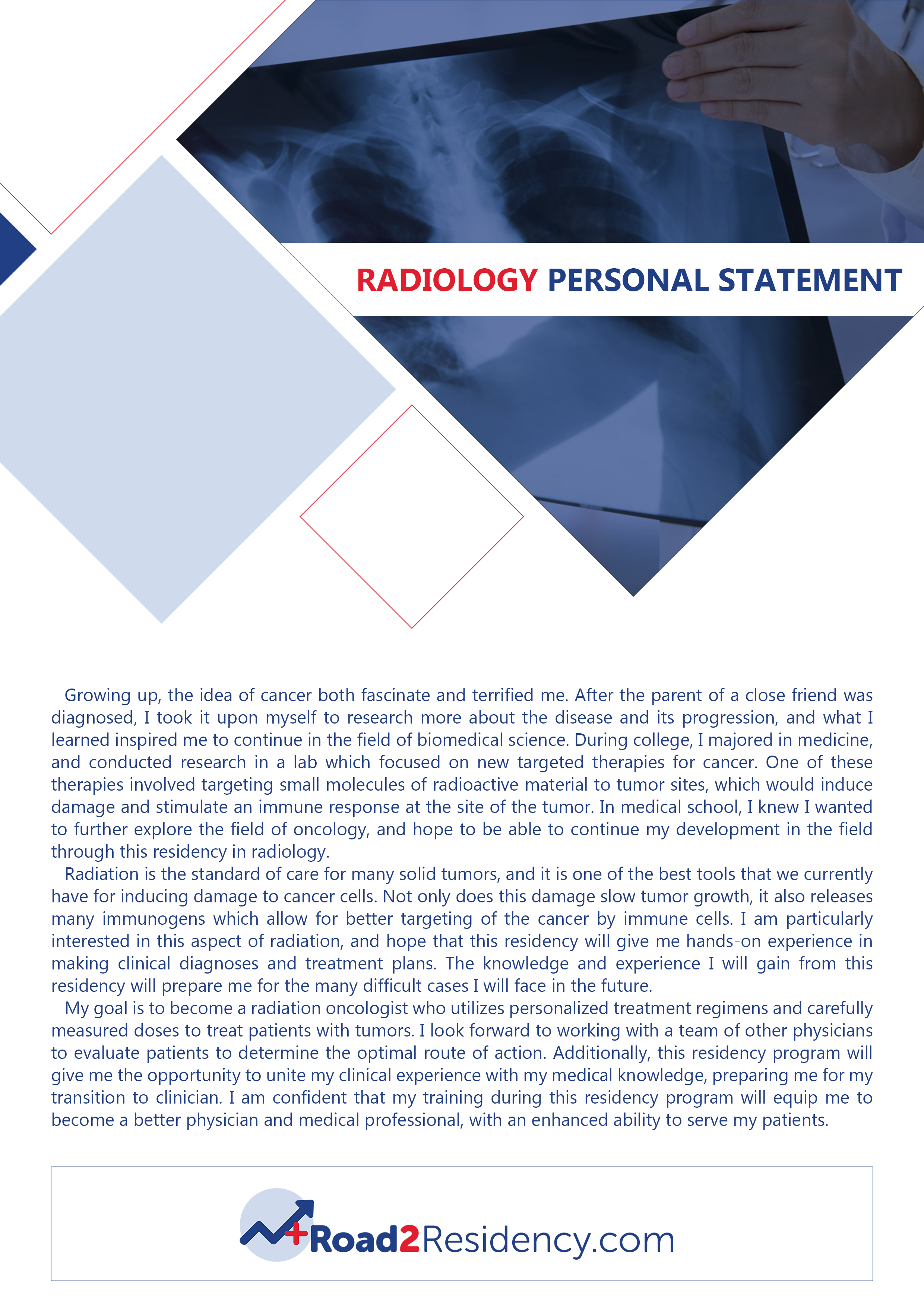 Pin By Road To Residency Samples On Personal Statement For Radiology