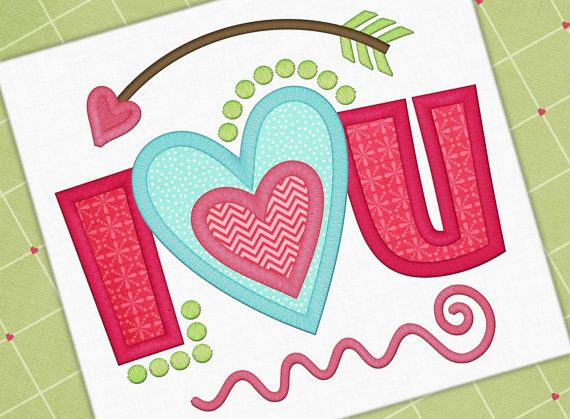 Valentine Applique Design Love You Applique Love Design Valentine