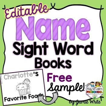 Try this FREE SAMPLE of our EDITABLE NAME SIGHT WORD BOOKS. Give your students the opportunity to practice their names and their sight words, in a cute foldable book that is personalized just for them!It usually takes time to make personalized practice for each student, right?