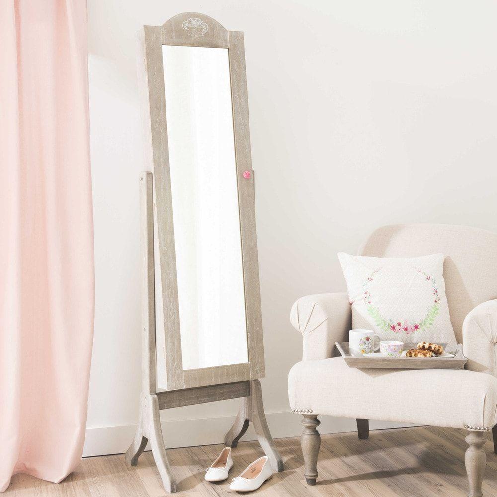 Miroir psyché porte-bijoux H 160 cm | Déco | Psyché miroir, Miroir ...