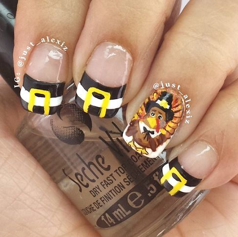 Nice Crafty Thanksgiving Nail Ideas To Try Crafty Morning Fall