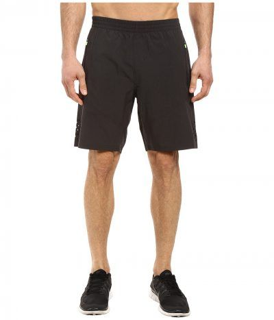 2XU - Urban Fit 9 Shorts (Black Marle/Gecko Glow) Men's Shorts