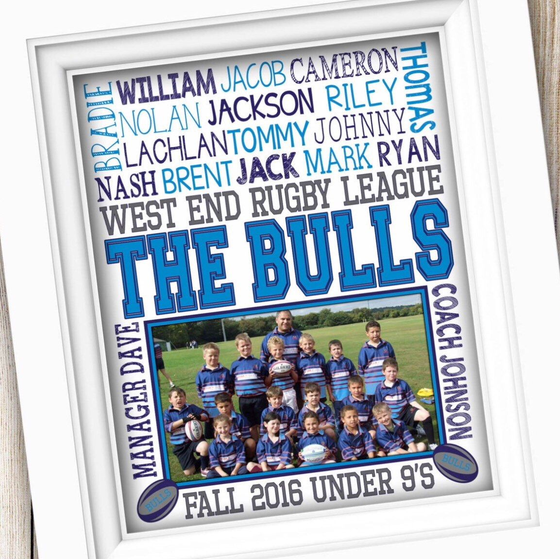 Rugby Coach Gift Get Your For The End Of The Season Rugby Gifts Coach Gifts Team Photo Gifts