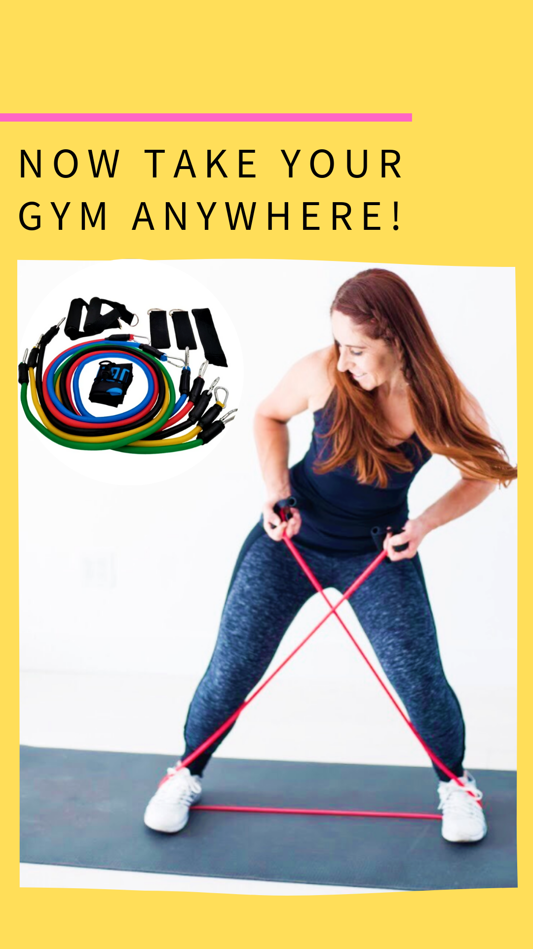 Fitness Resistance Band Set In 2020 Resistance Band Exercises Ab Workout At Home Resistance Workout