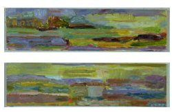 Henri Hagman, Maisema Viikissä I ja II, 17 x 16, Water-soluble oil color on MDF board / The Art of Basware 2002