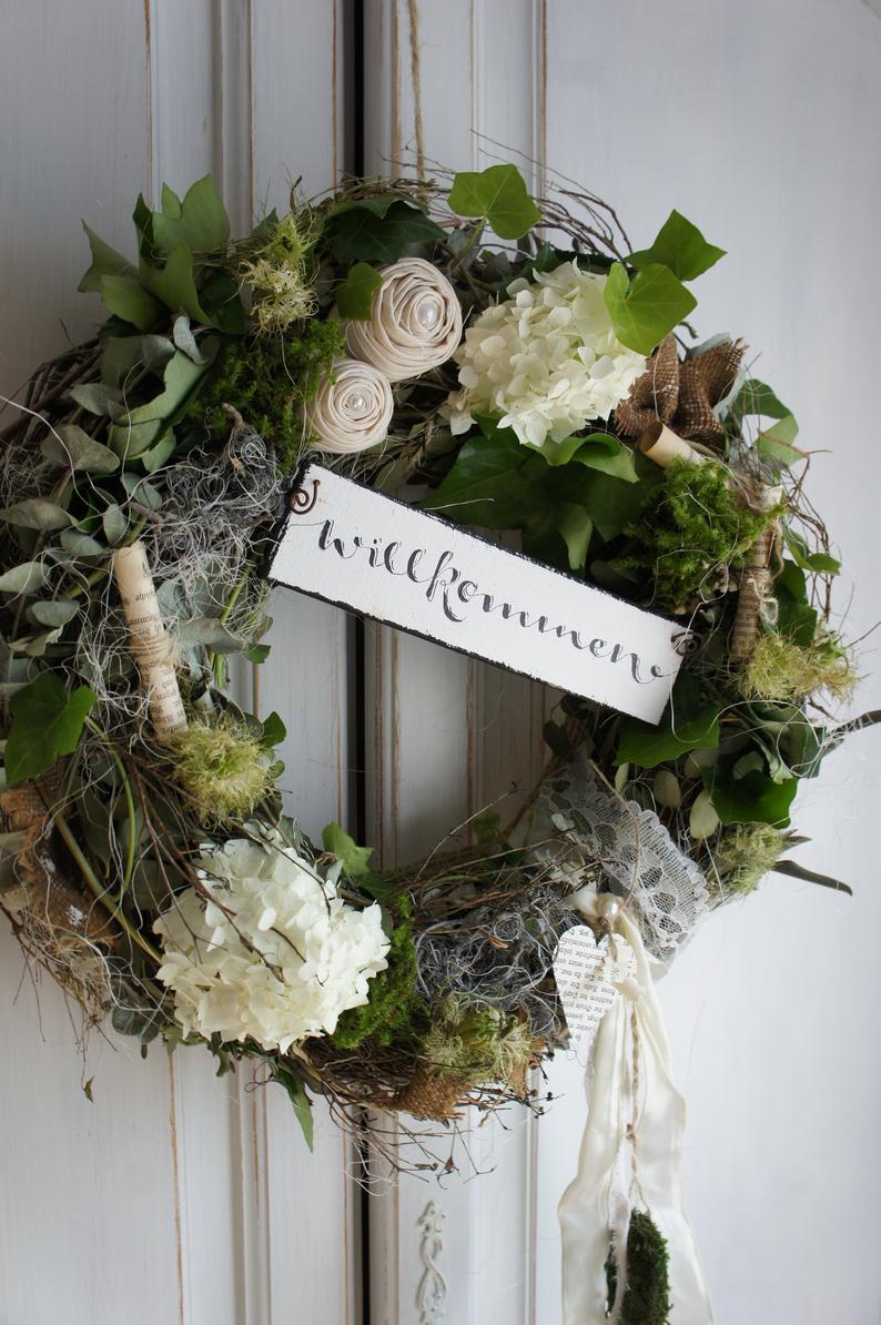 """Photo of Door wreath """"Summer welcome …."""""""