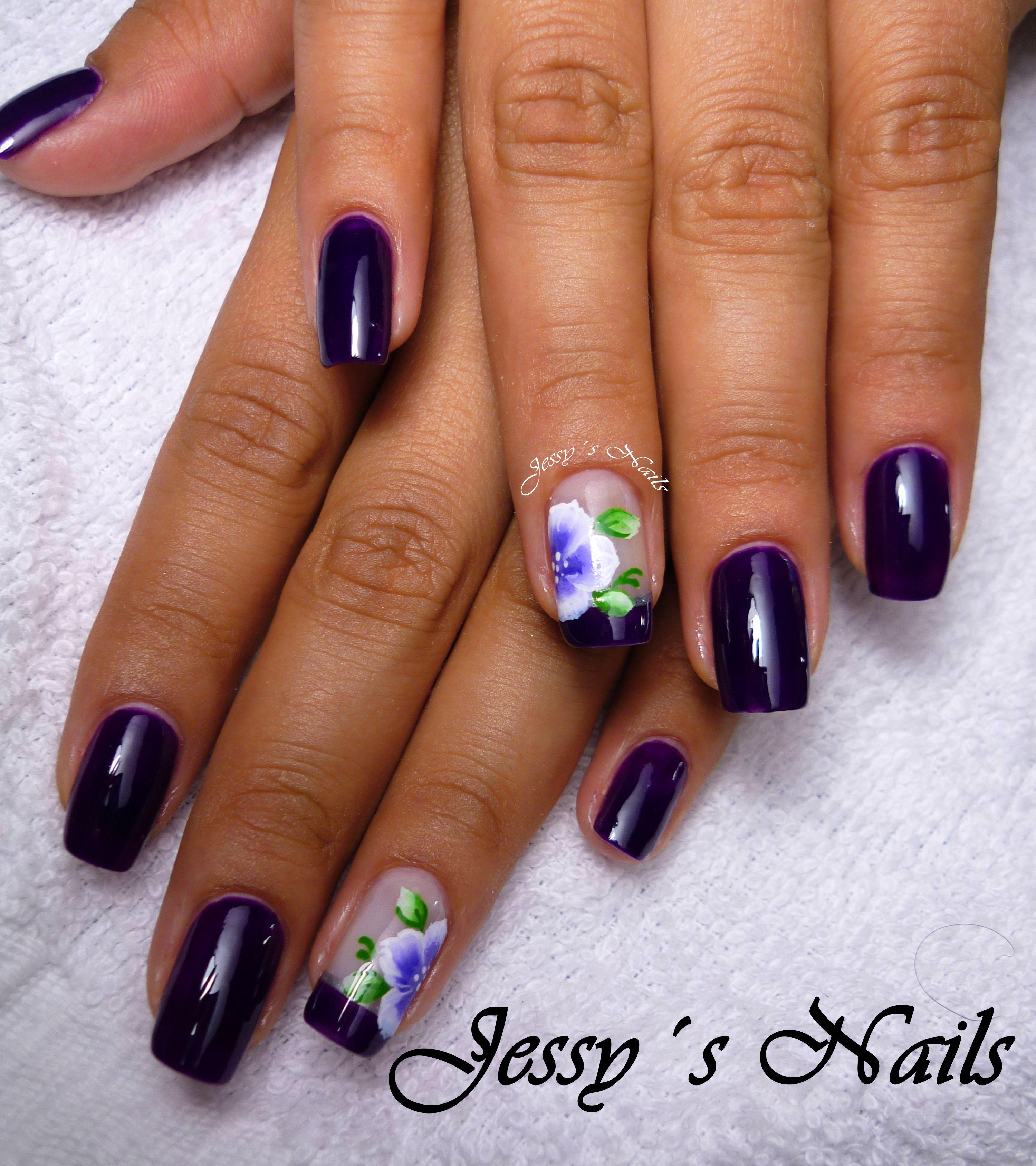 uñas elegantes en color oscuro #cute #nails #elegance #lindas #uña ...