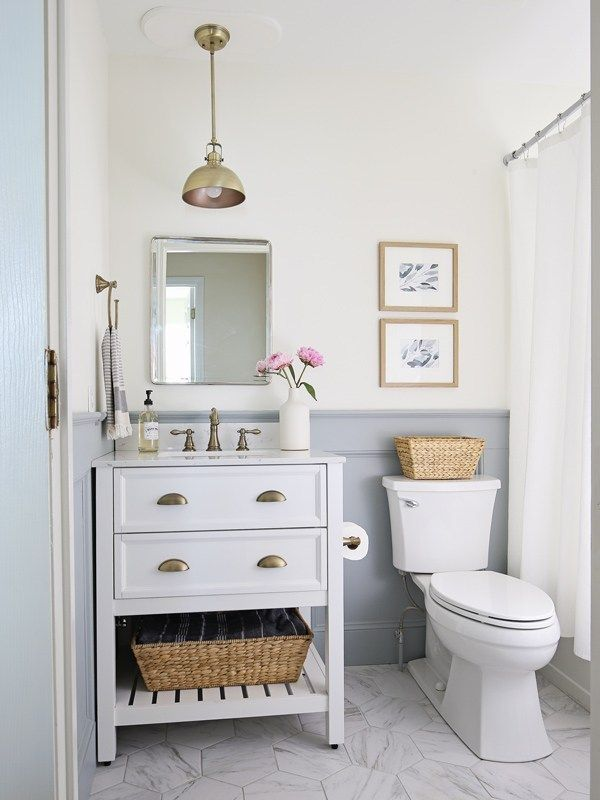 Small Bathroom Makeover Reveal #bathroommakeovers