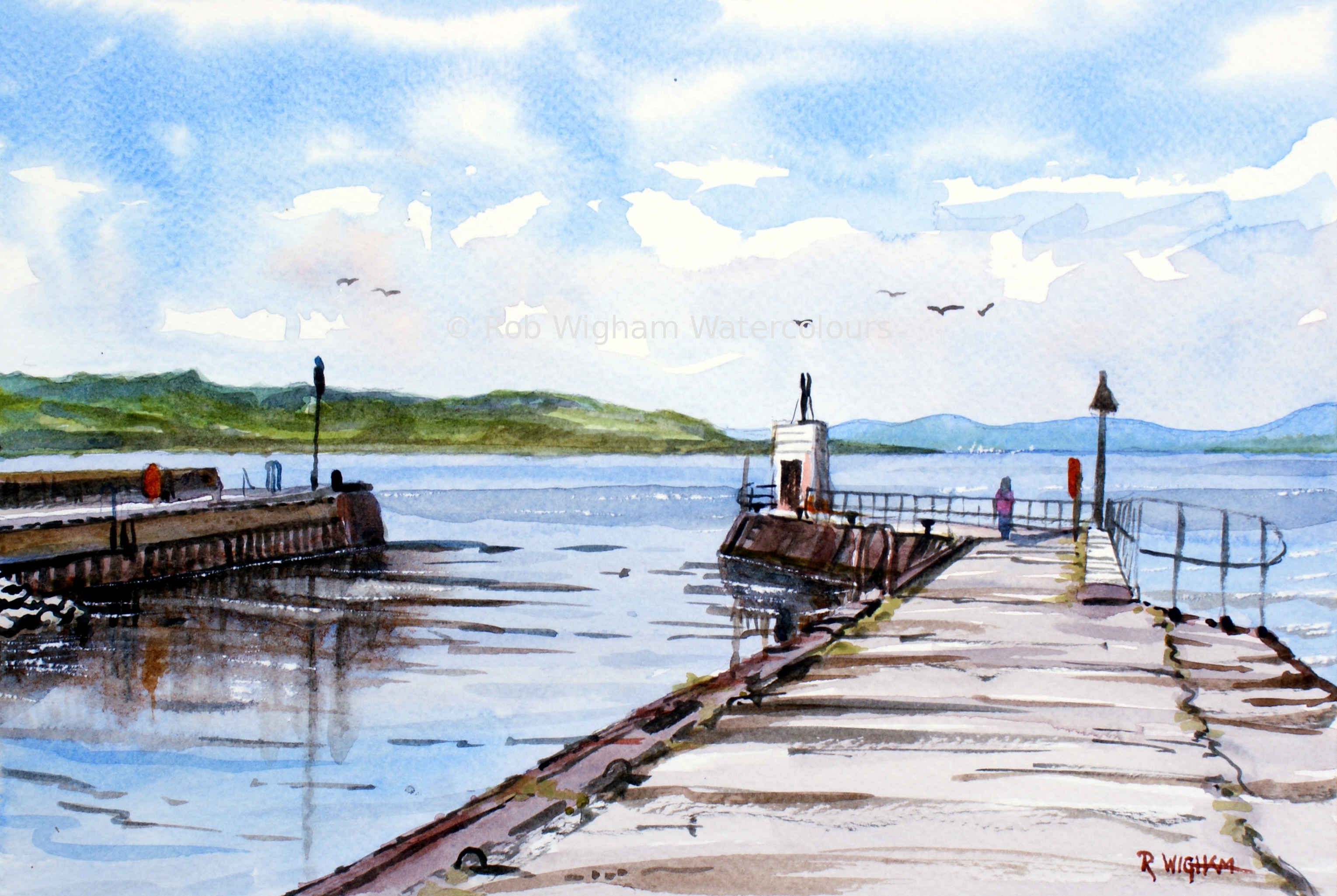 The Maggot Watercolour 10 5 X 7 A View Of Nairn Harbour