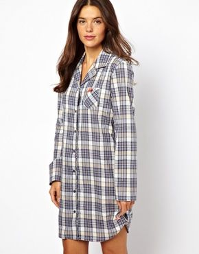 3436bf93 This sleep shirt, a cup of hot cocoa and a romantic movie! Winter  Wonderland!!! Esprit School Check Nightshirt. ASOS | Online Shopping ...