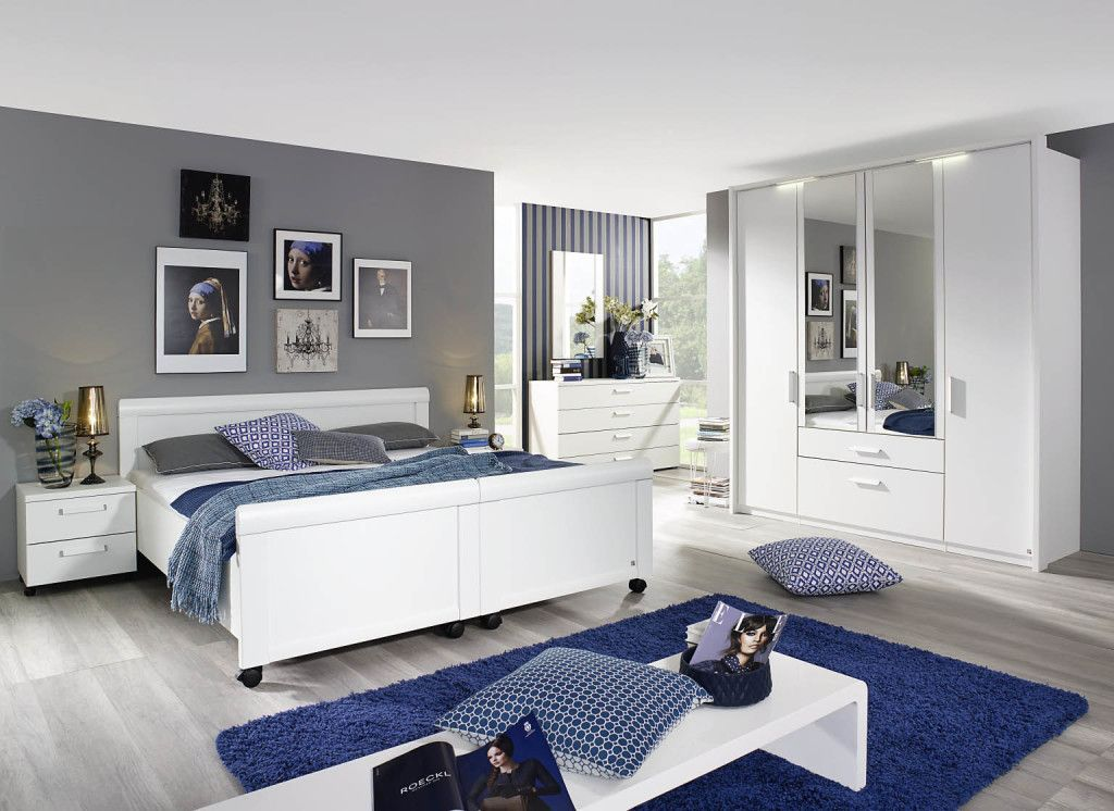 Schlafzimmer von Rauch #Bett #weiß #blau - Möbel Mit wwwmoebelmit