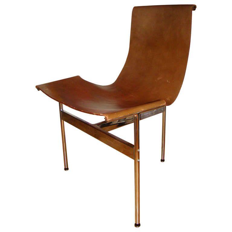 west elm leather sling back chair uk australia chrome modern