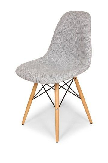 Upholstered Eames Eiffel Chair Grey Side Chairs Furniture