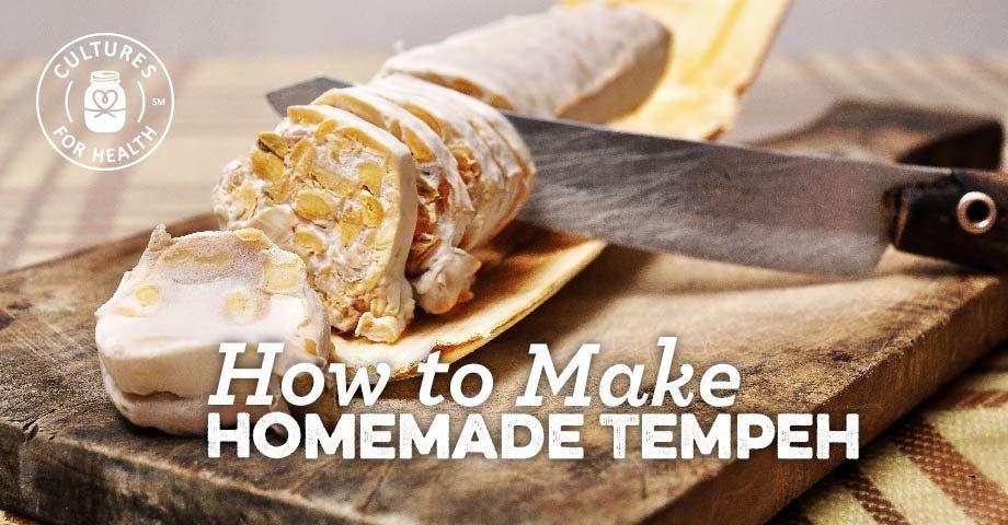 How To Make Homemade Tempeh Recipe In 2020 Homemade Tempeh Recipe Food Tempeh