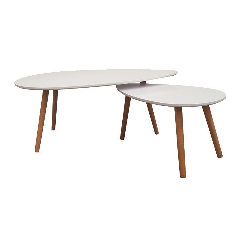 Mila Coffee Table Set Of Two White Decofurn Coffee Table Glass Coffee Table Table