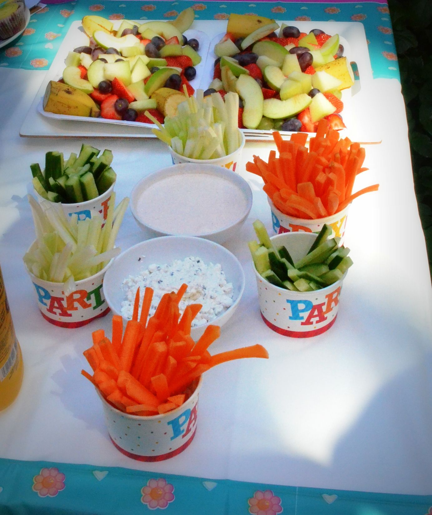 Healthy food for kids party