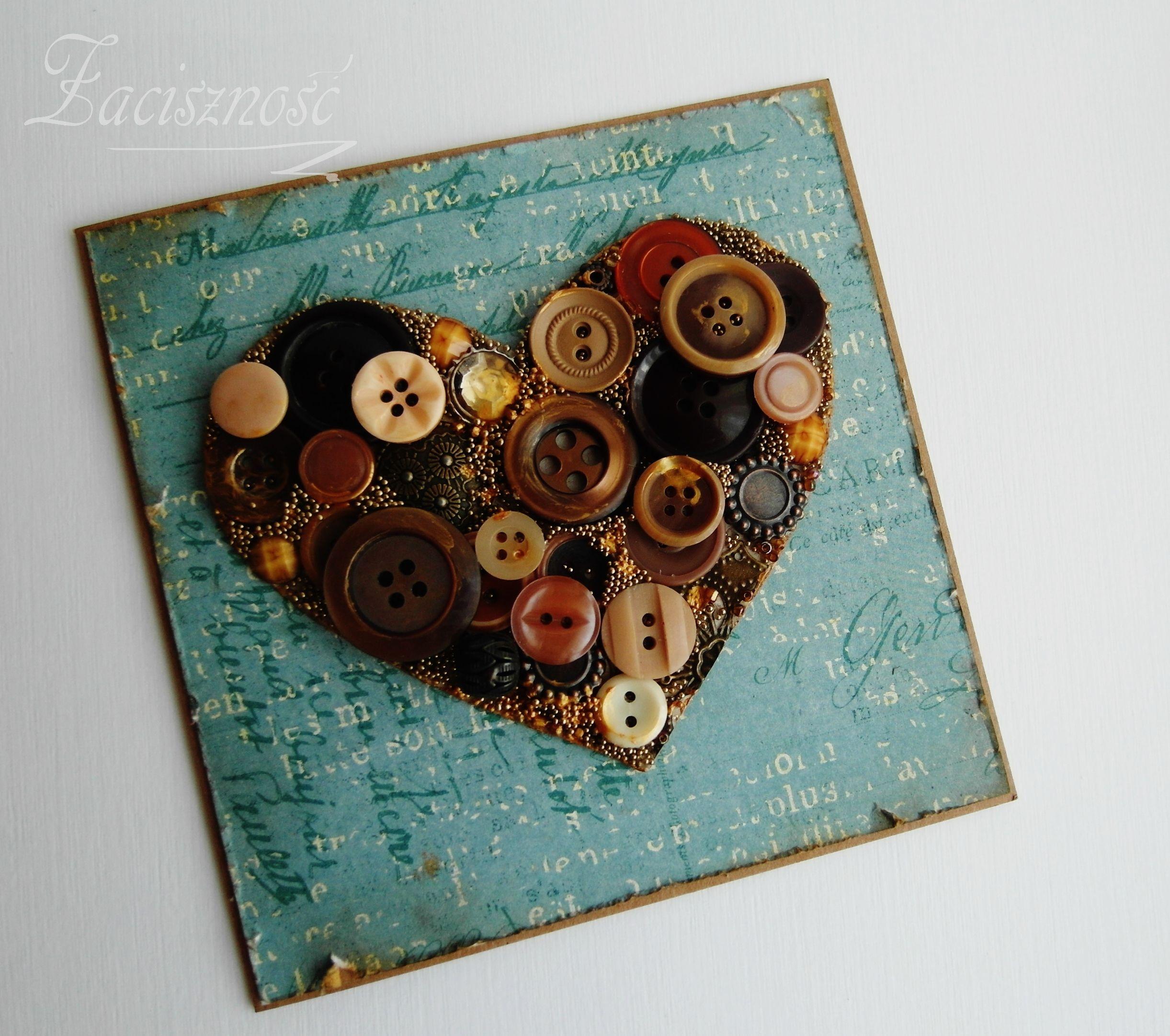 Z Guzikami Cards Handmade Cards Personalized Items