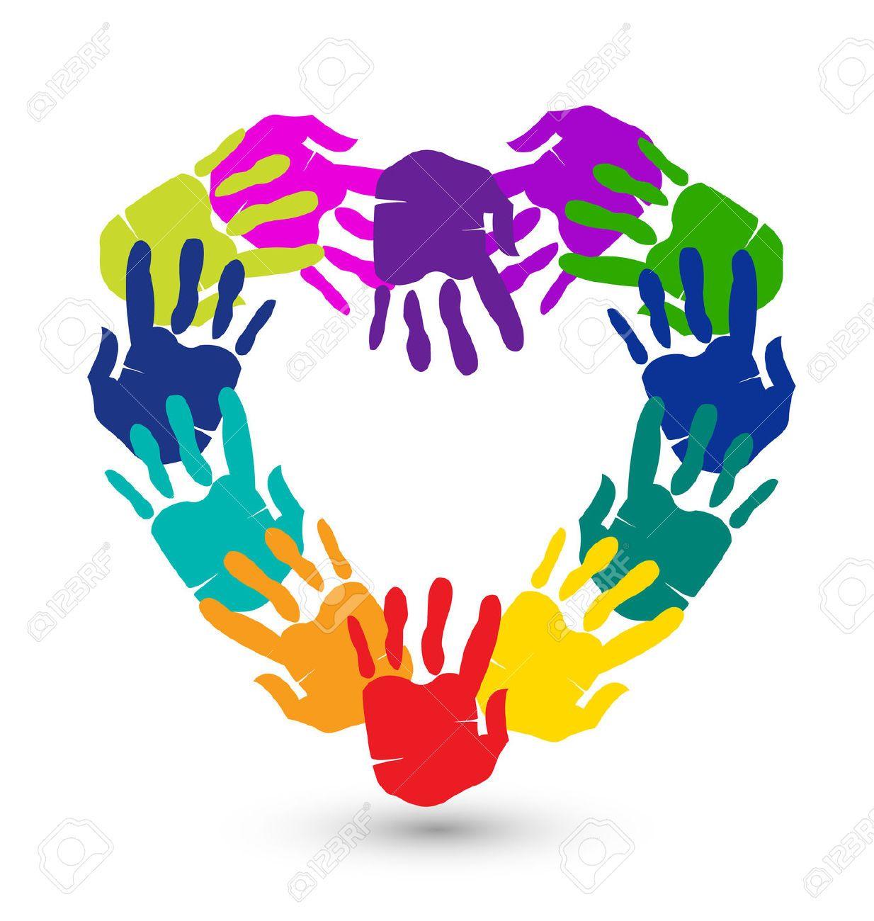 Hands In A Heart Shape Conceptual Icon Vector Hand Logo Hand Art Helping Hands Logo